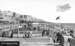 Brighton, Madeira Walk And Sands c.1955