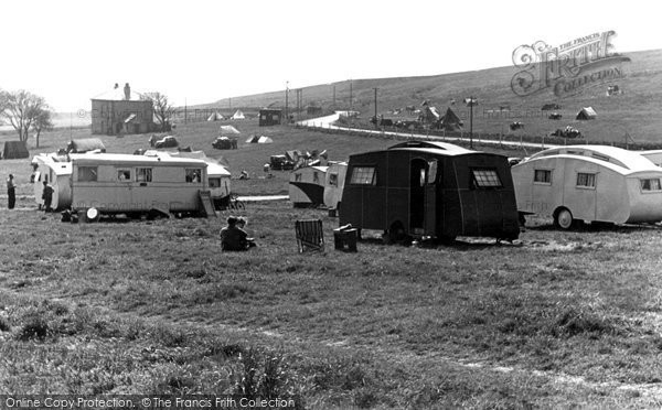 Brighton, Municipal Camping Ground, Sheepcote Valley c.1955