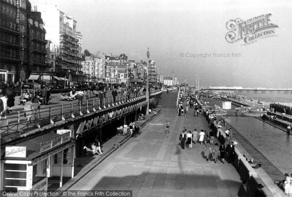 Brighton, Promenade And King's Road c.1955