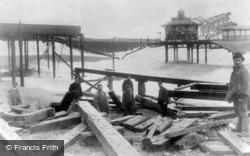 Storm Damage To The West Pier c.1896, Brighton