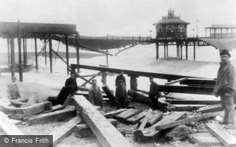 Brighton, Storm Damage to the West Pier c1896