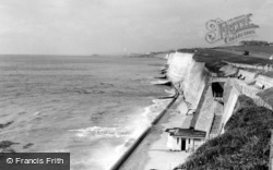 Brighton, The Beach, Ovingdean Gap c.1955