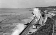 Brighton, the Beach, Ovingdean Gap c1955