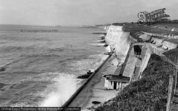 Photo of Brighton, the Beach, Ovingdean Gap c1955