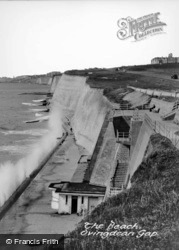 Brighton, The Beach, Ovingdean Gap c.1955