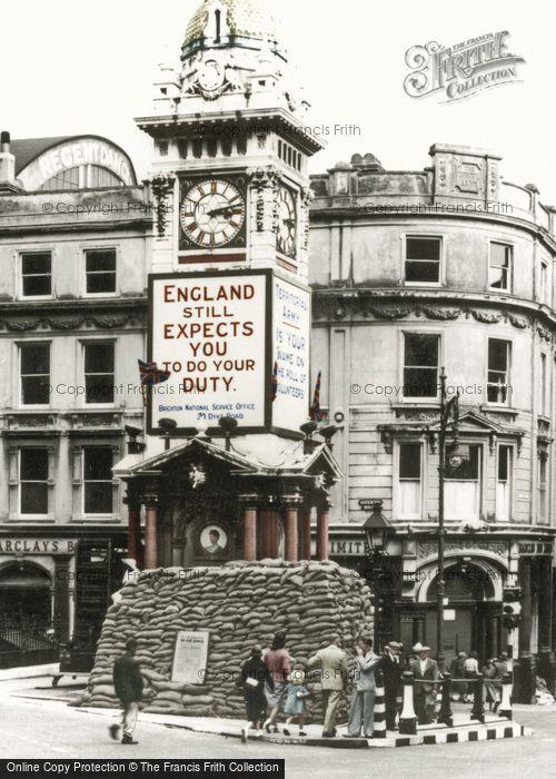 Brighton, The Clock Tower c.1942