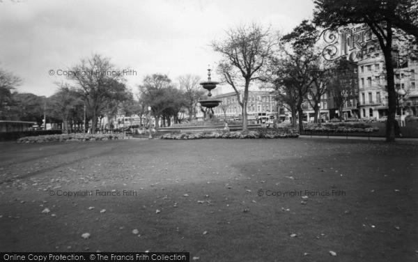 Photo of Brighton, The Fountain, Old Steine Gardens c.1955