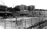 Brighton, The Open Air Baths c.1955