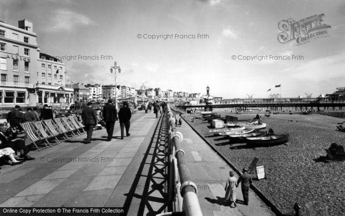 Photo of Brighton, The Promenade c.1955