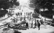 Brighton, Tramway Construction, The Steine c.1904