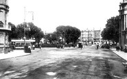Brighton, Victoria Gardens Viewed From Church Street 1902
