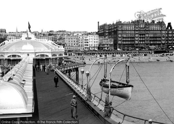 Brighton, View From West Pier c.1955