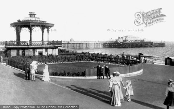 Photo of Brighton, West Pier And Bandstand 1902