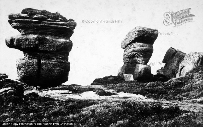 Photo of Brimham Rocks, Idol Rock And Yoke Of Oxen c.1874