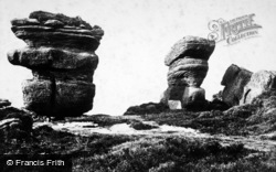 Brimham Rocks, Idol Rock And Yoke Of Oxen c.1874