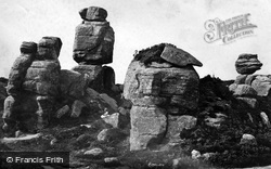 Brimham Rocks, Pivot Rock c.1874