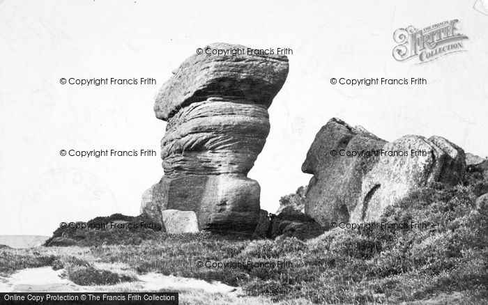 Photo of Brimham Rocks, The Boat And Yoke Of Oxen 1895