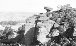 Brimham Rocks, The Druid's Writing Desk c.1960