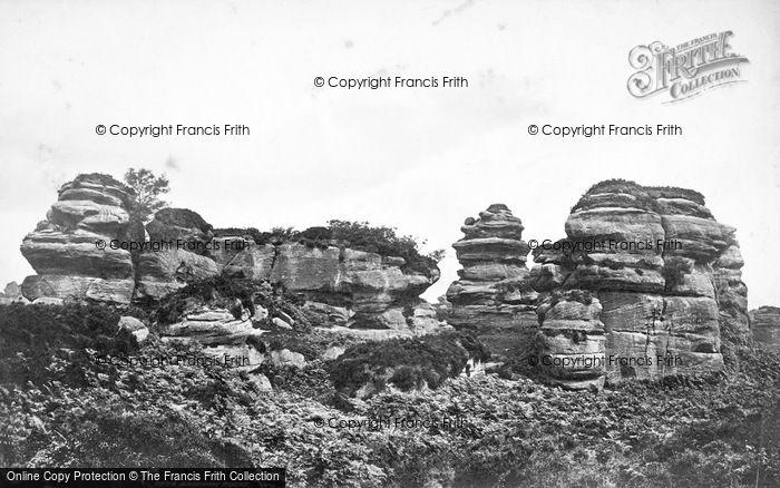 Photo of Brimham Rocks, Tower Rocks c.1874