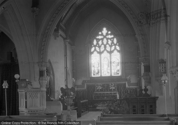 Brimpton, Parish Church Of St Peter Interior 1939
