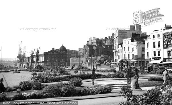 Photo of Bristol, A View From The Centre Towards St Augustine's Reach c.1950
