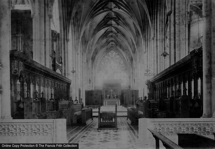Bristol, Cathedral Choir East 1896