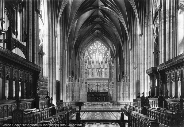 Bristol, Cathedral, Choir East 1900