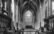 Bristol, Cathedral, Choir East 1900