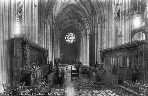 Bristol, Cathedral, Choir West 1900