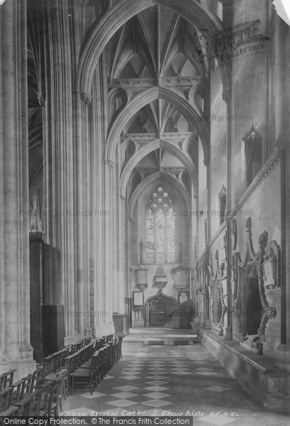 Bristol, Cathedral South Choir Aisle 1900
