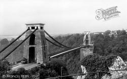Bristol, Clifton Suspension Bridge c.1950