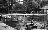 Bristol, Eastville Boating Lake c.1950