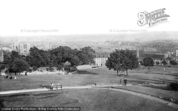 Photo of Bristol, from Brandon Hill 1896