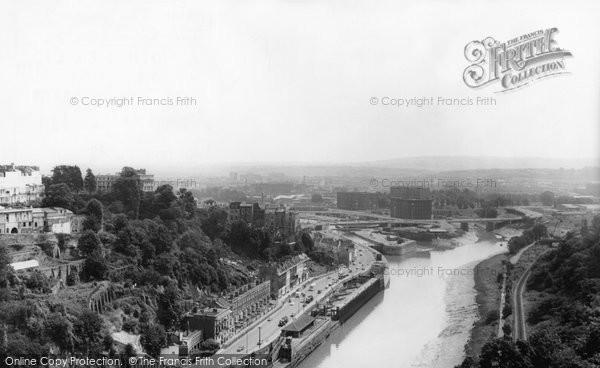Bristol, From Clifton Bridge c.1965