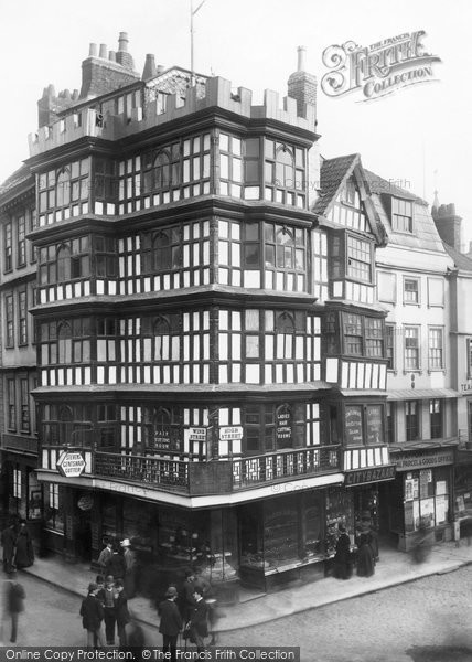 Photo of Bristol, Old Houses and Tolley's Bank 1890