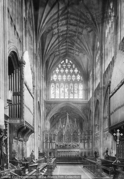 Bristol, St Mary Redcliffe, Choir East 1901