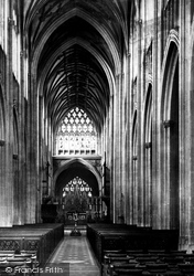 Bristol, St Mary Redcliffe Church, Nave East 1887