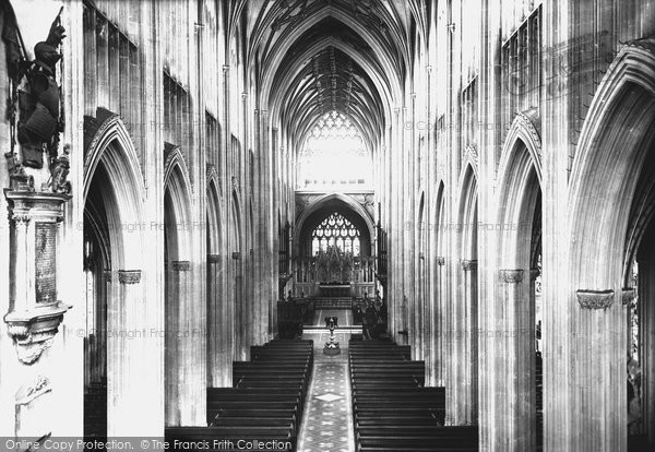 Bristol, St Mary Redcliffe Church Nave East 1887