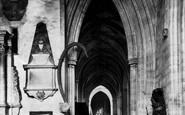 Bristol, St Mary Redcliffe Church, Queen Elizabeth Statue 1887