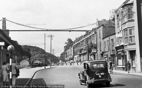 Bristol, Suspension Bridge From Portway c.1935