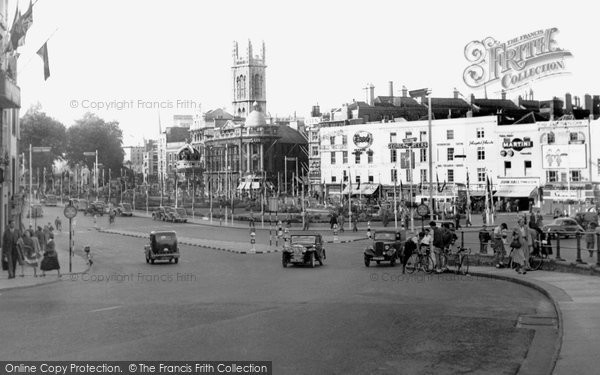 Bristol, The City Centre c.1953