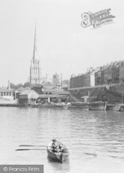 Bristol, The Harbour, Sailors Rowing c.1935