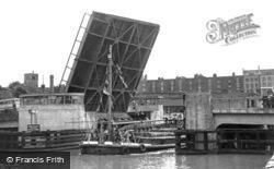 Bristol, The New Bascule Bridge c.1950