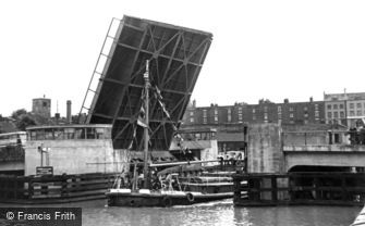Bristol, the New Bascule Bridge c1950