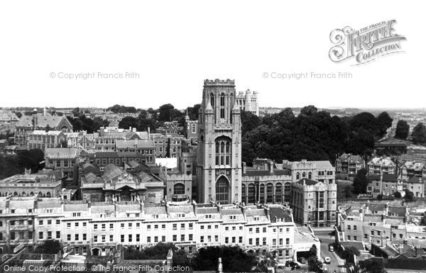 Photo of Bristol, the University from Cabot Tower c1950