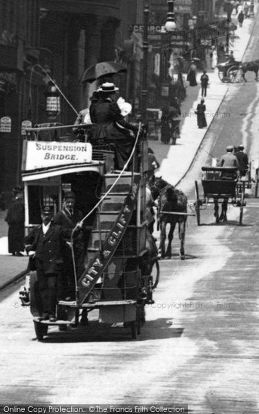 Photo of Bristol, Tram in Park Street 1900