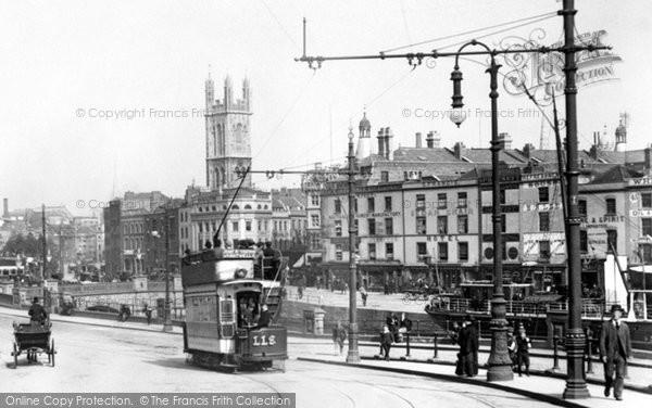 Photo of Bristol, Tram, the Centre 1901