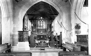 Britford, St Peter's Church Interior 1906