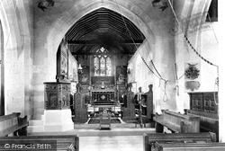 Britford, St Peter's Church Interior 1906