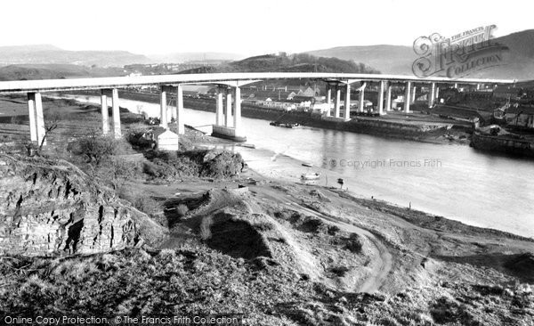 Briton Ferry, The New Bridge c.1955
